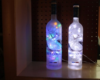 Grey Goose Vodka 100 LED Man Cave/Bar/Deco Light with 8 light patterns, Clear or Color Changing Lights