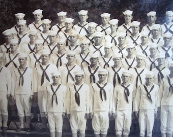 World War II Naval Picture - Seabees - Camp Peary Picture - Servicemen Picture - Naval Picture