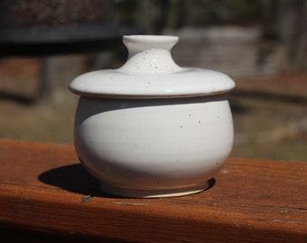 Ceramic Lidded Jar // Sugar Jar // White Jar