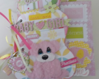 Baby Girl Mini Chipboard Album