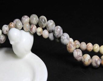 Maifanite: 20 natural semi precious 6mm beads