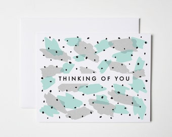 Thinking of You Card- Abstract Thinking