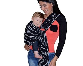 Baby ring sling, Baby sling  Baby carrier, Newborn Toddler Sling, Marbled fabric Sling, Breastfeeding Nursing Cover, Guatemalan Cotton Sling