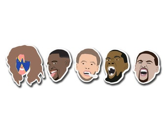Stephen Curry // Klay Thompson // Kevin Durant // Draymond Green // Basketball // Golden State Warriors // Stickers