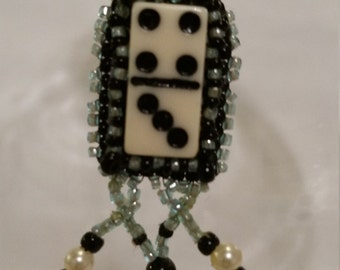 Domino Bead Embroidery Necklace - 01D35