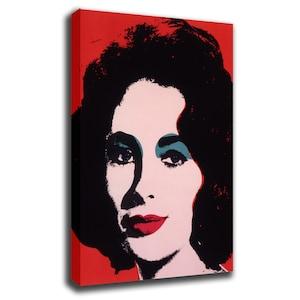 Andy Warhol Elizabeth Taylor Portrait Art Print Poster Canvas/Glossy HD  Canvas, Gallery Wrap