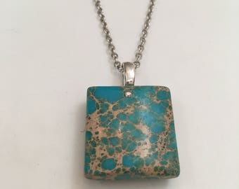 Mosaic Turquoise Chain Necklace