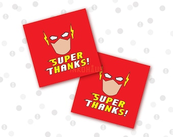 INSTANT DOWNLOAD - Favor Tags - Lightning Bolt Superhero Printable Party Collection by InkoHaus - 2 Designs - PDF
