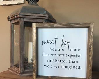 Sweet Boy Sign
