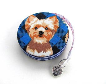 Measuring Tape Yorkie Yorkshire Terrier Dogs Retractable Pocket Tape Measure