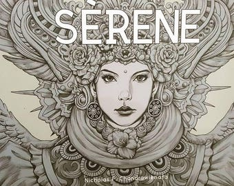 SERENE(signed) coloring Book by Nicholas F. Chandrawienata - Indonesia Coloring Book, Indonesian Colouring Book