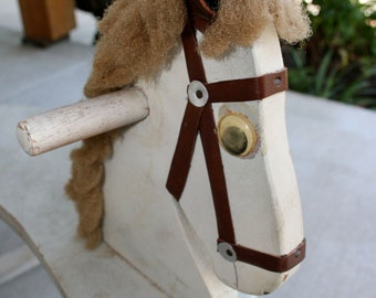 Handmade Wooden Rocking Horse//Nursery Decor//Photo or Store Prop//Vintage Rocking Horse