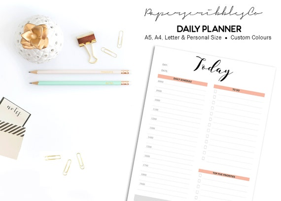 Daily Planner Printable To Do List Daily Schedule Day - Custom daily planner