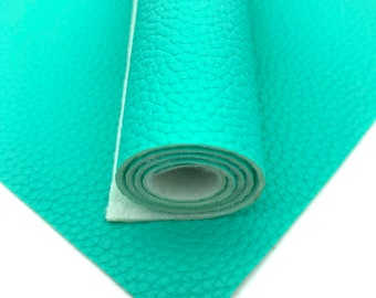 Seafoam Green Leather / 1 sheet / A4 (21x29cm) or A5 (21x14cm) / Leatherette / Faux Leather / Hair bow leather /hair accessory/craft leather