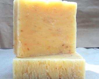 Natural Lemongrass Soap, Cold Process Soap, Shea Butter Soap, Vegan Soap, Gift Idea