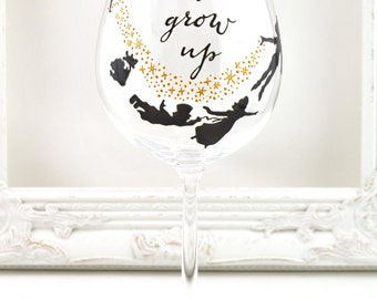 Never Grow Up Crystal Goblet