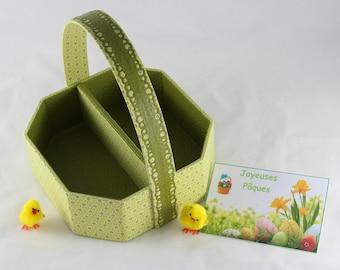 Basket of Easter/green anise/table decoration for Easter/child/stars Japanese basket / Easter / Easter egg hunt