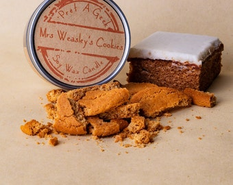 Mrs Weasley's Cookies Soy Wax Candle // Fandom Candle // Witchcraft & Wizardry Candle // Book Scented Candle // 4oz