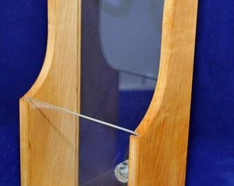 Wooden Window Brochure Rack