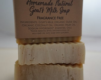 Homemade Natural Goat's Milk Soap Fragrance Free