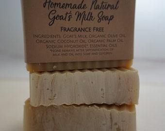 Homemade Natural Goat's Milk Soap Fragrance Free