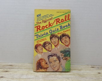 The Official Rock and Roll Trivia Quiz Book, 1977,  Marc Satkin, vintage book, rock and roll