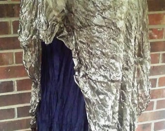 Bronze Metallic Silk Bias Cut Tunic