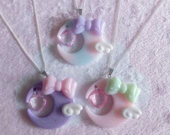 Fairy Kei Moon Necklace