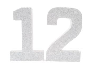 Ready to ship! Silver Glitter Number 1 - First Birthday - Party Decor - Princess Party - Silver Birthday - Big Number for Birthday Party
