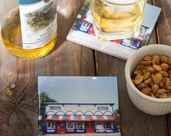 Chagrin Falls Popcorn Shop Coasters // Home Decor// Set of 4 Ceramic//Chagrin Falls Photography