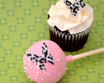 Edible Mini Butterflies - Leopard Print 2 dozen - Cake & Cupcake toppers - Food Decoration