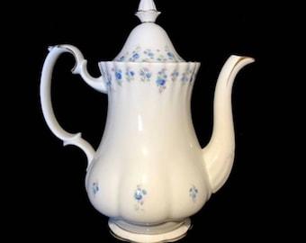 Royal Albert Memory Lane Coffee Pot Large Bone China Made In England