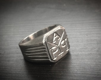 Your personal ring seal ring, coat of arms, initial ring, personalized ring, initials, unique, single piece, monogram