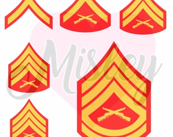 US Marine Corps Emblems/Rank Insignias Bundle SVG|PNG|STUDIO3 Cut Files for Silhouette Cameo/Portrait & Cricut Explore/Maker Craft Cutters