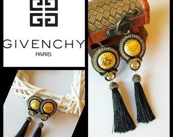 Soutache Ohrringe (soutache earrings) aus  authentischen Knöpfe. Statement Ohrringe