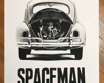 SPACEMAN Serigraph Print