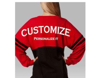 Custom made Boxercraft Pom Pom Jersey, Team Spirit-wear, Game Day, Cheerleading, Personal Customization
