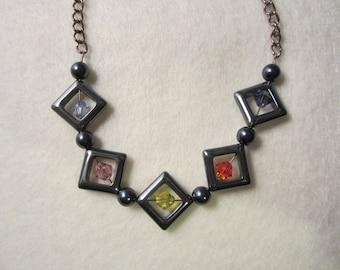 Diamond Swarovski Necklace Set