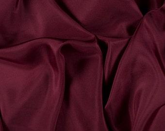 "45"" Wide 100% Silk Habotai Burgundy-Wholesale by the Yard (2000M171)"