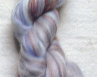 Merino Wool Roving, combed top, Granite Multi Color Fiber for Spinning or Felting, commercially dyed.