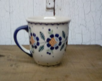 Large 16 Ounce Polish Stoneware / Coffee Mug / Polish Pottery Coffee Mug / 16 Ounce Coffee Mug / 16 Ounce Polish Stoneware Coffee Mug