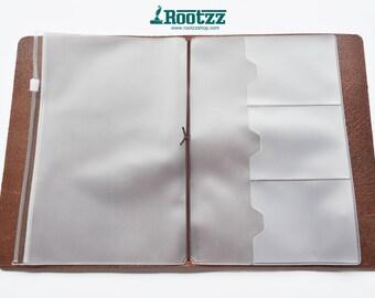 Zipper pocket for your A5 traveler's notebook - zipper case -