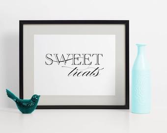 Wedding Dessert Sign, Sweet Treats Dessert Sign, Dessert Table Sign, Dessert Table Idea, Wedding Dessert Table, Dessert Table Signs