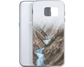 Misty Valley River Yellowstone National Park Samsung Case