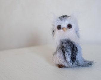 Little Owlett Needle Felted Mini Owl, Cute Owl, Felted Owl, Owlett