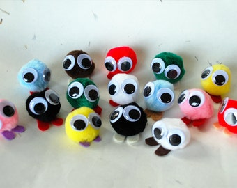 Party Favor Meeps, Large - Warm Fuzzies - Cheer Up Gift - Fuzzy Companion - Unique Birthday Party Favors - Fun Stocking Stuffer - set of 5