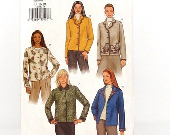 Butterick  Misses' Jackets Sewing Pattern #3573-Sz 14,16,18 (Bust 36,38,40) - UNCUT Factory Folded