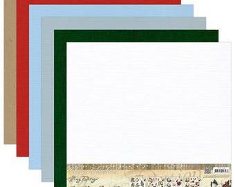 12 scatole in fibre del lino 30.5 x 30.5 cm AMY DESIGN classici di Natale