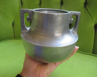 W S Co Pewter Vase with Handles