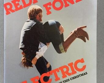 "1980 Electric Movie Print Ad starring Robert Redford and Jane Fonda - ""Redford Fonda"""